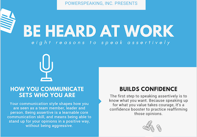 Be Heard at Work: Eight Reasons to Speak Assertively